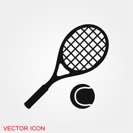 Illustration pour Tennis icon vector sign symbol for design - image libre de droit