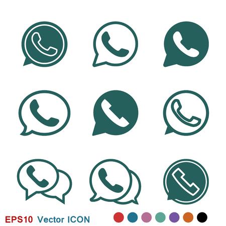 Ilustración de Telephone icon, Whatsapp icon vector sign symbol - Imagen libre de derechos