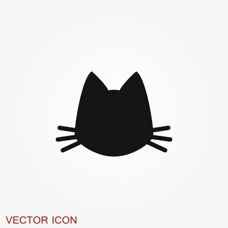 Illustration for Cat icon. Kitty Vector Icon. Cat symbol isolated on background - Royalty Free Image