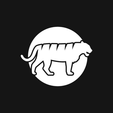 Illustration for Tiger icon, symbol isolated on background. - Royalty Free Image
