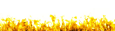 Photo for fire flames on white background - Royalty Free Image
