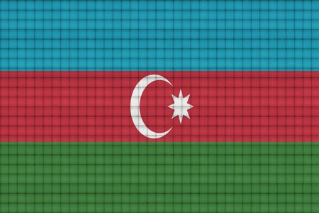 clean sheet of paper with blending  Azerbaijan flag