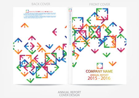 Illustrazione per Annual report cover design - Immagini Royalty Free