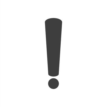 Exclamation mark icon. Vector illustration