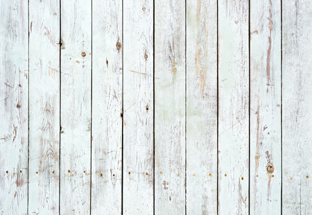 Vintage white wooden wall backgroundの写真素材