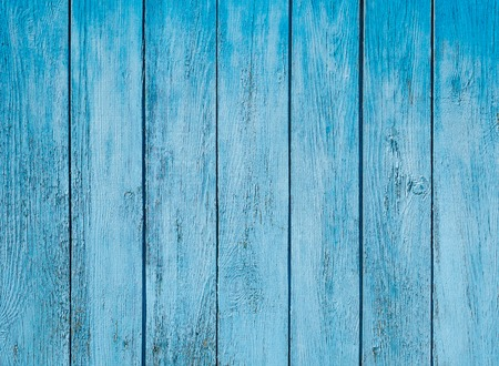 Old painted blue wood fence - texture or background