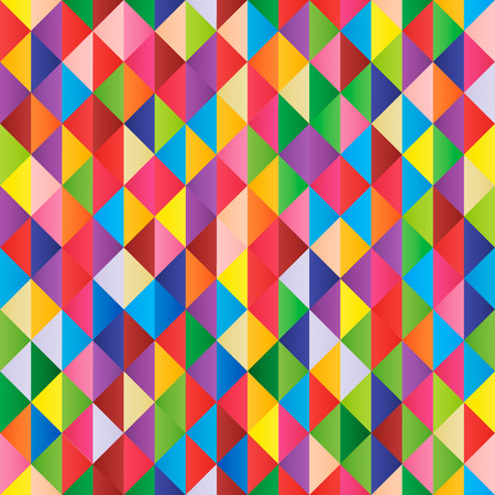 Illustration for Abstract multi-colored geometric vector seamless background - Royalty Free Image
