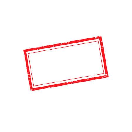 Illustration pour Vector grunge rubber stamp without text - image libre de droit
