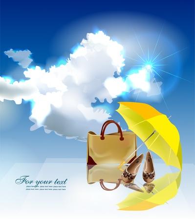 Illustration pour summer time background  - image libre de droit