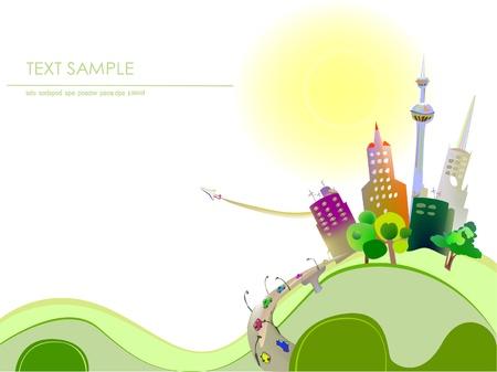 Illustration pour city background - image libre de droit
