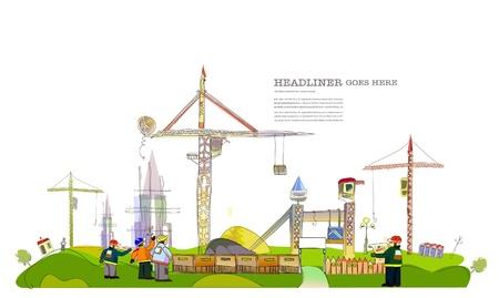 Illustration for building site illustration - Royalty Free Image