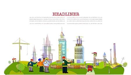 building site illustration
