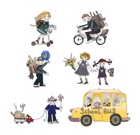 kids goin to school