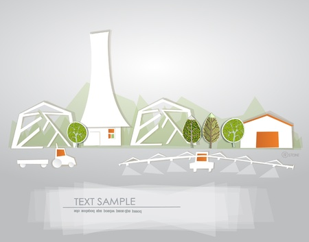 Farm background White city collection