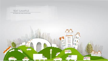 Illustration pour city and roads  White city  collection - image libre de droit