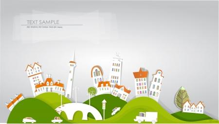 Illustration pour city background  White city  collection - image libre de droit