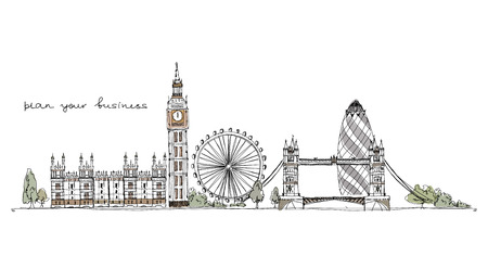 London illustration Sketch collection