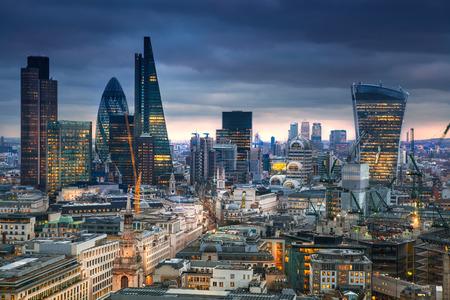 LONDON, UK - JANUARY 27, 2015: panoramic view City of London