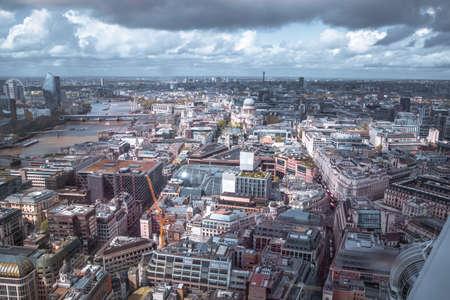 Foto für London, UK - April 25, 2019: City of London West  side view with lots of  office blocks - Lizenzfreies Bild