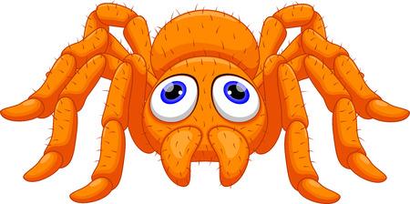 Illustration pour Cute tarantula cartoon - image libre de droit