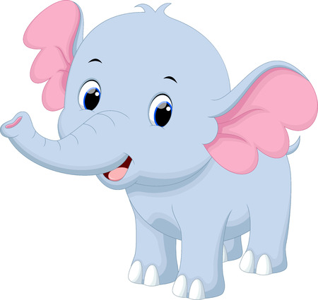 Illustration pour Cute baby elephant cartoon - image libre de droit