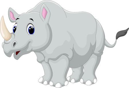 Ilustración de Rhino cartoon - Imagen libre de derechos