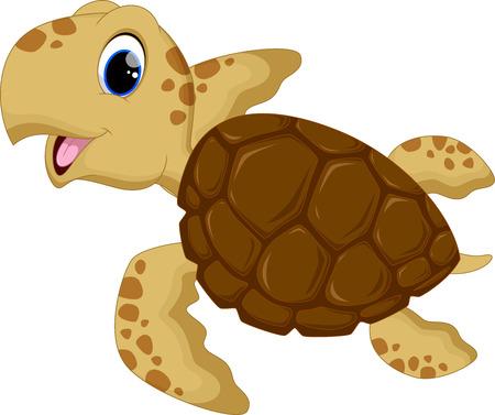 Illustration pour Cute baby turtles - image libre de droit