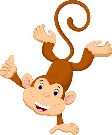 Ilustración de Cute monkey cartoon - Imagen libre de derechos