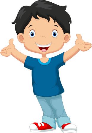 Illustration pour Happy boy cartoon - image libre de droit