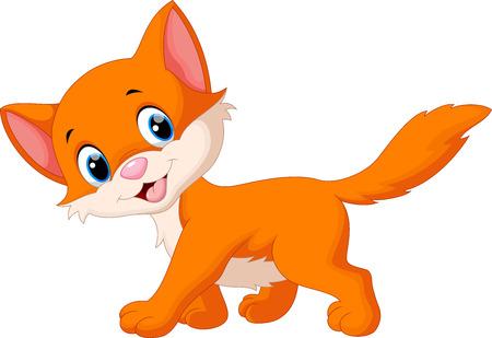 Illustration pour Cute cat cartoon - image libre de droit
