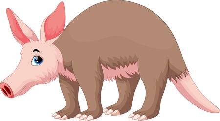 Illustration pour Vector illustration of Aardvark cartoon - image libre de droit