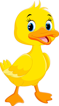 Illustration pour Cute duck cartoon isolated on white background - image libre de droit