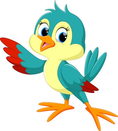 Ilustración de Cute bird cartoon - Imagen libre de derechos