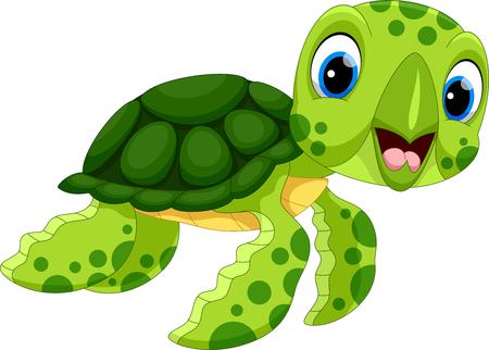 Ilustración de Vector illustration of cute turtle cartoon isolated on white background - Imagen libre de derechos