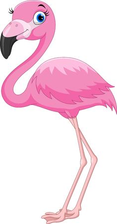 Ilustración de Cartoon pink flamingo bird - Imagen libre de derechos