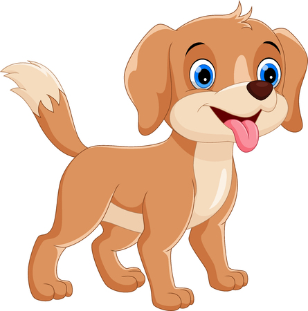Photo pour Vector illustration of cute and adorable dog cartoons isolated on white background - image libre de droit