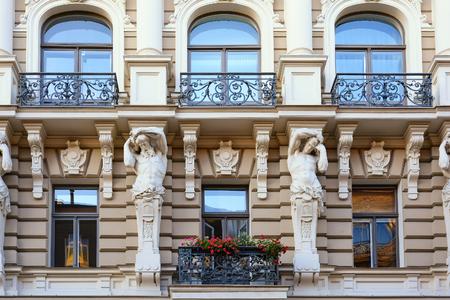 Photo pour Art Nouveau building on Alberto Street in Riga, Latvia. - image libre de droit