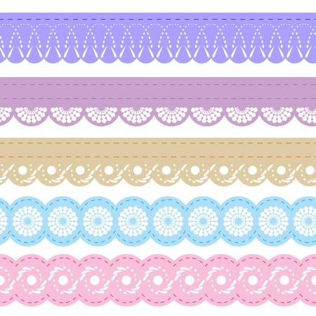 Ilustración de laces for scrapbook - Imagen libre de derechos