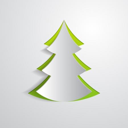 fir tree cut in paper