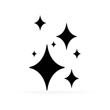 Illustration pour black shine icon, vector illustration - image libre de droit