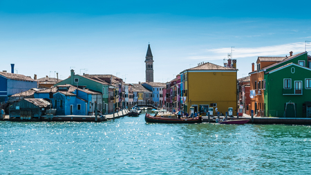 Burano is an island in the Venice lagoon known for its typical brightly colored houses and the centuries-old craftsmanship needle lace of Burano.