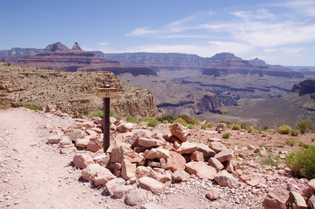 View from Skeleton Point on Kaibab trail  in the Grand Canyon