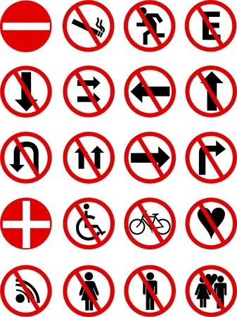 señalizacion de diferentes iconos y gestos