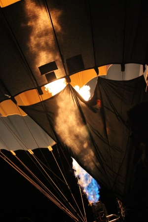 Hot air balloon before flying