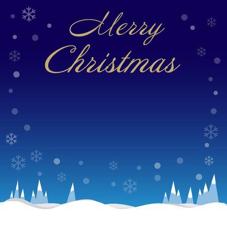 Illustration pour Christmas holiday snowflakes border on blue background with copy space - image libre de droit