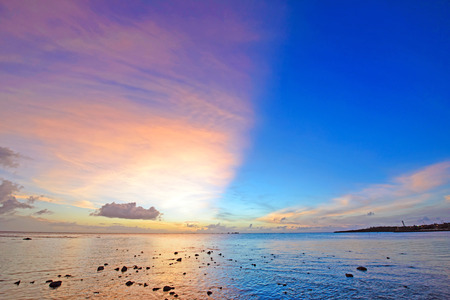 Photo pour Fantastic sunset, Okinawa, Japan - image libre de droit