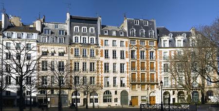 View of Place Dauphine in Paris - Ile de la cite