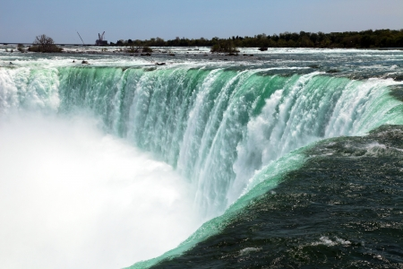 The view of the Horseshoe Falls  Niagara Falls Ontario Canada
