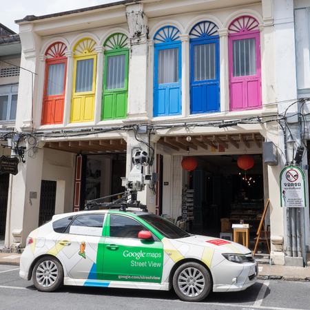 PHUKET, THAILAND - JULY 07, 2016: A Google Street View camera car in Phuket old town.