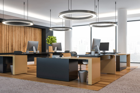 Photo for Modern office interior with furniture. 3d rendering. - Royalty Free Image